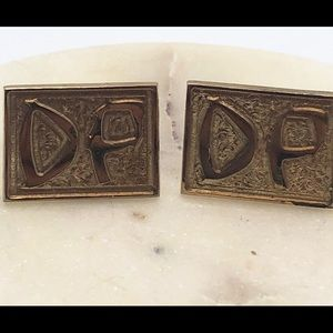 Vintage Gold Cufflinks initialed D P